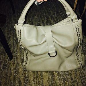 Handbags - Grey leather bag with metal detail 👛